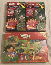 Lot Of 2 Dora The Explorer Colorforms 3-D Deluxe Play Sets + Dora Board Game NEW