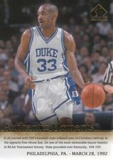 2014-15 SP Authentic Basketball #58 Grant Hill Moments Duke Blue Devils