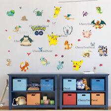 Pokemon Go Cute Pikachu Wall Decals Sticker Vinyl Mural Kids Room Hot Decor UK