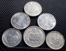 1975-1999 China PRC Fen & Jiao coins, set of 6pcs (plus FREE 1 coin) #D1501