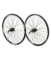 """26"""" PAIR Mach Neuro 6 Bolt Disc Cassette Hub MTB Front Rear Bike Wheels"""