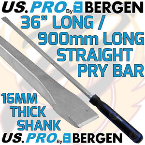 """US PRO Pry Bar 36"""" Extra Long Straight Hammer Through HEAVY DUTY JEMMY CROW PRY"""