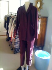Vintage Jil Sander bordeau mohair and wool pant suit
