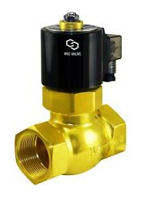 "1-1/2"" Inch Brass Electric Hot Water Steam High Pressure Solenoid Valve  24V AC"