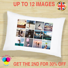PERSONALISED PHOTO Cushion Cover Pillow Case Custom Gift Collage up to 12 Image