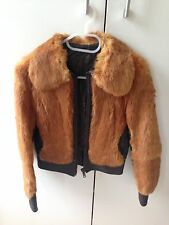 Real Fur Jacket, Copper, Vintage, Small