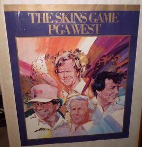 Rare Vintage Golf THE SKINS GAME PGA WEST Palmer Nicklaus Trevino 18 x 21 Poster