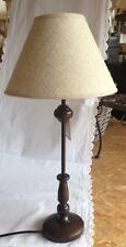 Tischlampe Tischleuchte Landhaus romantik Schirm beige creme H:51 cm NEU