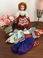 Vintage Tiny Doll Clothes Lot, Storybook, Irwin, Antique Dolls, TLC .