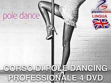 Corso Pole Dance Professionale [4 DVD] Fitness Rassodare Cellulite (NOVITÀ) Palo