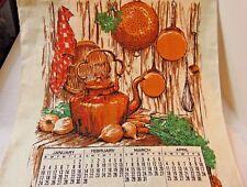 Vintage 1971 Kitchen Calendar Towel