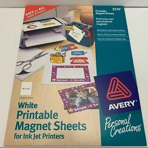 "Avery 3270 White Printable 3 Magnet Sheets - 8.5"" x 11"" for InkJet Printers"