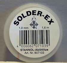 Stannol 907103 - Solder-Ex - Solder Mop Desoldering Braid 1.0mm x 1.6m Roll 1stP