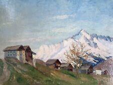 Impressionismus Ölgemälde Alpen Grossvenediger? Dolomiten? Margarethe Hamm ~1925