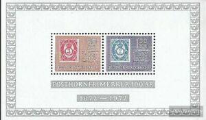 Noruega Bloque 1 nuevo 1972 sellos de corneta de postillón