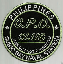 SUBIC BAY NAVSTA CPO CLUB PATCH, GONE BUT NOT FORGOTTEN        Y