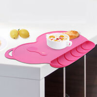 Silicone Infant Baby Placemat Reusable Washable Toddler Food Mat