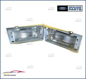 NOS OEM Ford  Side Marker Cornering Light Lamps LEFT & RIGHT SET D9AZ15A201A & B