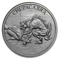 SALE !~ CHUPACABRA  ROUND ~ 2~OUNCES PURE .999 SILVER ~ AWESOME ! ~ $56.88 ~ BUY