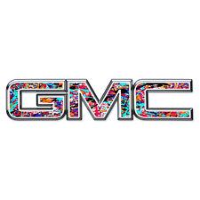 07-17 GMC Sierra Yukon PAINT SPLATTER Front Grill Emblem Overlay Decal
