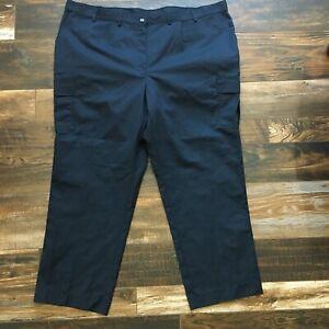 Edwards Uniform Pants Adult 26W Navy Blue Security Work Heavy Twill Cargo NEW