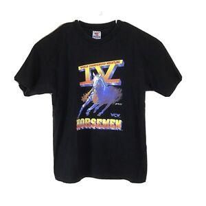 VTG 1995 Single Stitch WCW Four Horsemen Wrestling T Shirt Men's XL Black