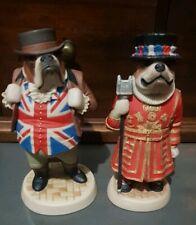 🎈 Vintage Beefeater & John Bull Bulldogs Robert Harrop Designs