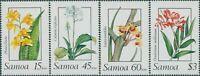 Samoa 1989 SG818-821 Orchids set MNH