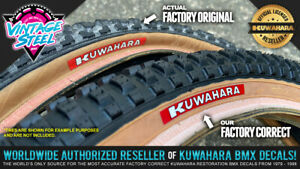 KUWAHARA Tire Decal Stickers (1 Pair) for Reproduction Skinwall & Gumwall Tires