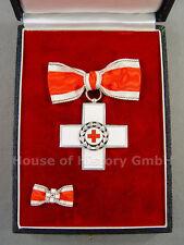 105489, Für Verdienste um das Deutsche Rote Kreuz im Etui, Damenschleife, + Mini