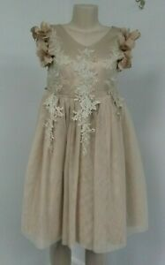 Fancy Girls Size 12 Scully Bianca Dress Girls Gold Special Occasion Dress NWT