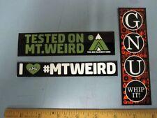 GNU snowboard DEVO WHIP IT 2014 3 STICKER SET New Old Stock Mint Condition