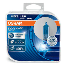 OSRAM Cool Blue Boost HB3 Car Headlight Bulbs (Twin) 69005CBB-HCB 100W 5000K