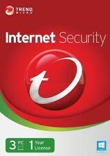 Trend Micro Internet Security 11 2018 Antivirus 3 User 1 Year Mac Windows 7 8 10