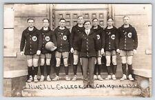 Evanston IL~Northwestern University~NWC Champions~1913-14 Basketball Team~RPPC