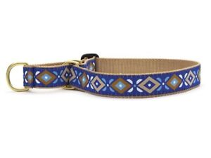 Dog Puppy Martingale Collar - Up Country - Made In USA - Aztek Blue - S M, L, XL