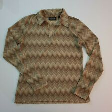 """""""New York & Company"""" Size S, Brown Long Sleeve Blouse. Good Condition"""