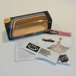 Corgi Toys  267 Batman & Robin Batmobile empty Repro Window Box Whizzwheels