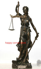 Goddess of Justice Themis Lady Justica Statue Sculpture  Veronese Bronze 31cm