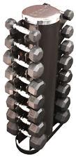 Troy VTX Rubber Encased Dumbbells 5 to 25 lb Set Plus 3 lb, 8 lb, 12 lb and Rack