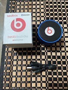 Beatbox Mini Bluetooth Speaker Beats Dr Dre Monster w Cable READ DESCRIPTION