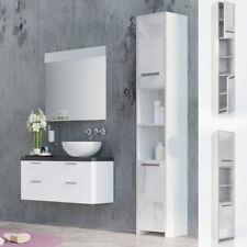 Vicco meuble haut  de salle de bain Kiko armoire de toilette blanc brillant