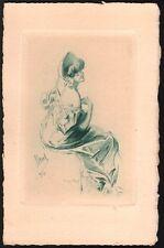 Jules Cheret. Epreuve avant la lettre.  Menu les Secrétaires de Rédaction. 1912