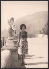 YZ1028 Ravello - Villa Cimbrone - Terrazza - Foto d'epoca - 1962 vintage photo