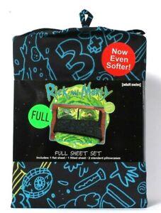 Franco Manufacturing Co Adult Swim Rick & Morty 100% Polyester Full Sheet Set