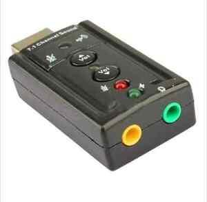 Mini USB 2.0 3D Virtual 12Mbps External 7.1 Channel Audio Sound Card Adapter JD