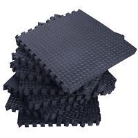72 Sq Ft Interlocking Puzzle Rubber Foam Gym Fitness Exercise Tile Floor Mat NEW