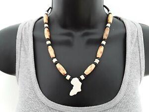 45cm Africa pendant hippy boho Bead Necklace ref:C615