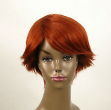 perruque afro femme 100% cheveux naturel courte cuivré intense ref WHIT 02/130