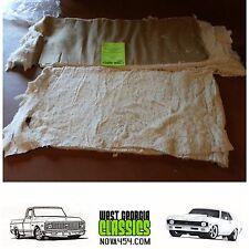 1962 - 1971 Nova Chevy II Rear Seat Cotton & Burlap seat cover Seat Foam